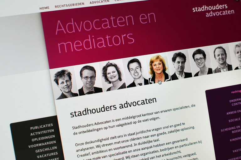 Website + CMS voor Stadhouders Advocaten