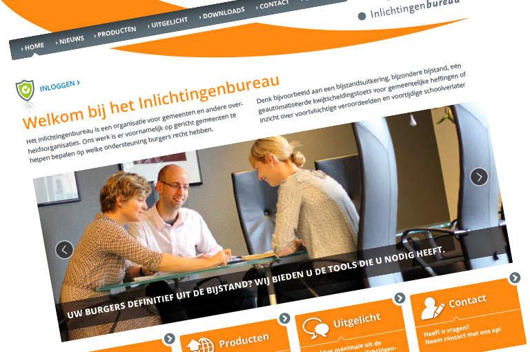Webdesign voor het Inlichtingenbureau