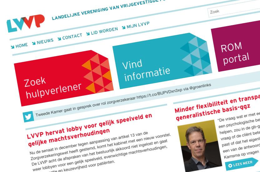 Responsive website en CMS maatwerk voor LVVP